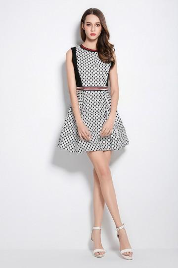 Elyssa Sleeveless Printed Dress