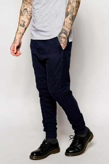 Religion joggers With Quilted Panel